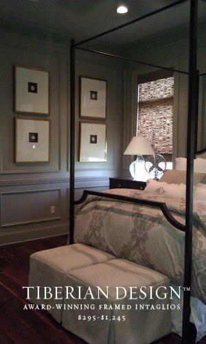 Framed Intaglios Project No. 2  3  Designers Choice Bedroom Vignette