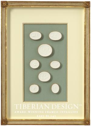 Framed Intaglios Project No. 3  2  Trademark Collection of Swedish Intaglio Designs