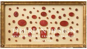 Framed Intaglios Project No. 3  4  Fine Quality 18th Century Tassie Wax Seals