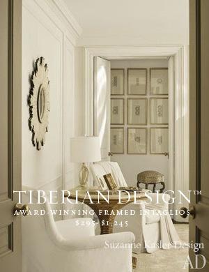 Framed Intaglios Project No. 12  SUZANNE KASLER DESIGN (Architectural Digest)