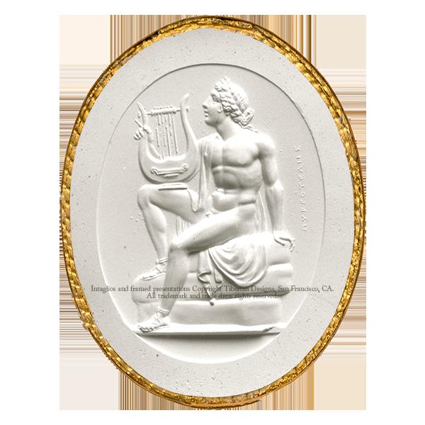 Tiberian Intaglio No.9  A sitting figure of Apollo, in the attitude of singing to his lyre.