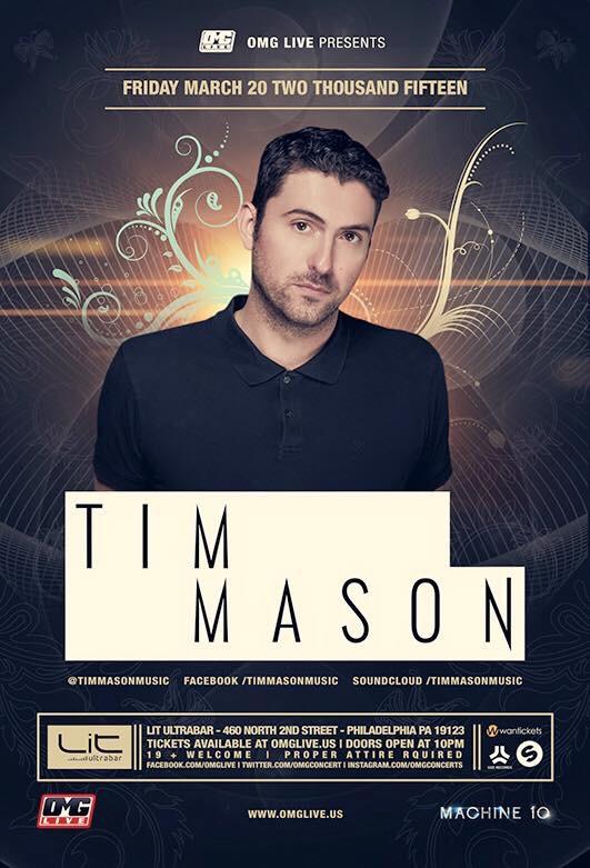 Tim Mason - Live this week at Lit UltraBar