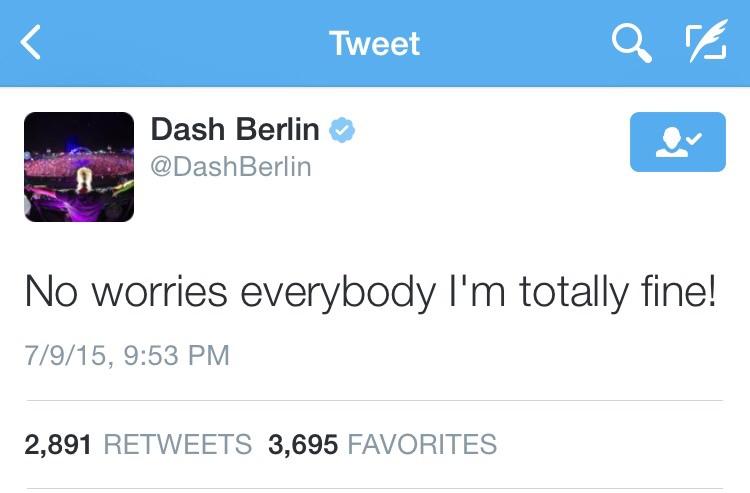 Dash Responds on Twitter