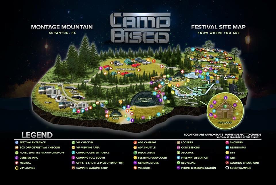 Camp Bisco 2015 Festival Map