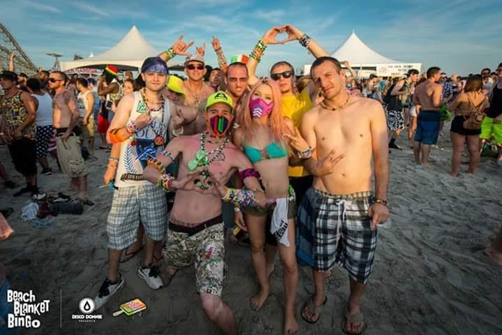 The HoH team at Beach Blanket Bingo in Wildwood, NJ