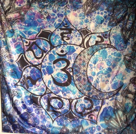 Chakras Sacred Geometry Tapestry. Original Sacred Geometry Tapestries and Bandanas by Enlighten