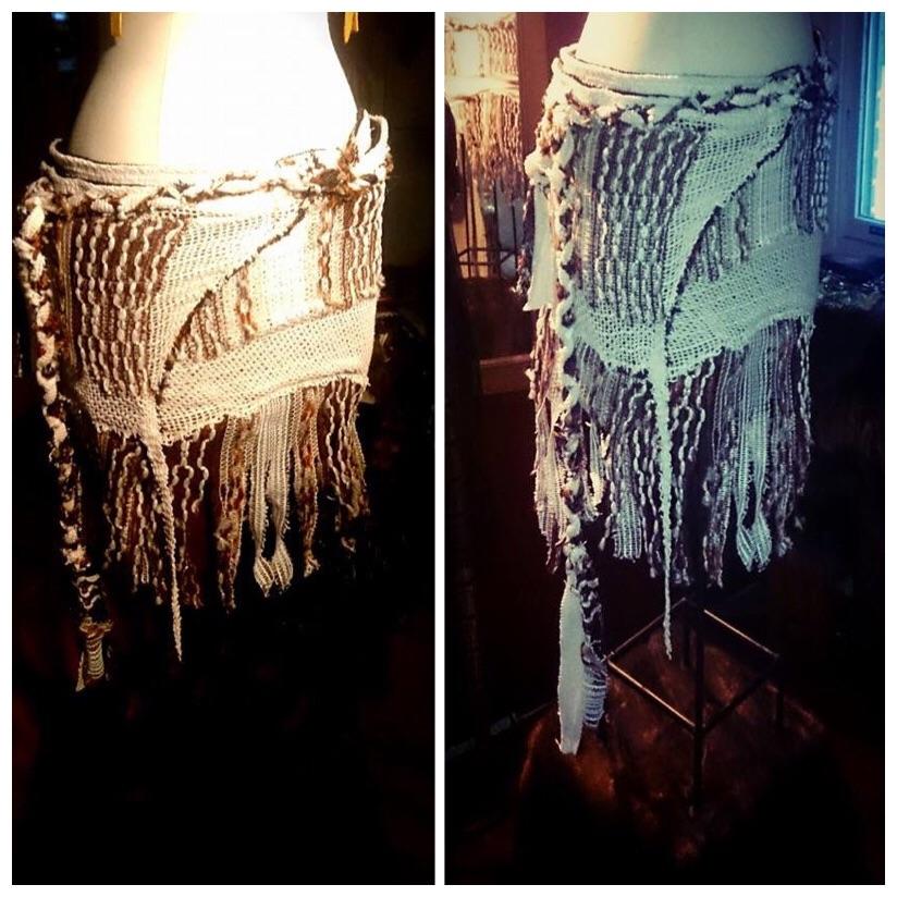 Wrap Skirt/Hippie Skirt/Raw Skirt/Tattered Skirt/Boho Skirt/Boho Clothing/Woodland Clothing/Fire Dance Skirt/Festival Skirt