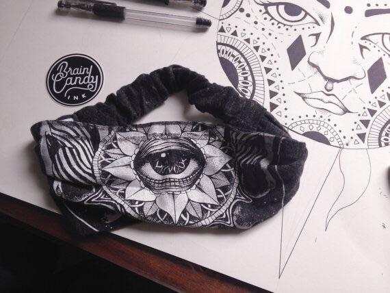 "Third Eye Eco Jersey Headband - 4"" Wide and Ultra Comfortable"