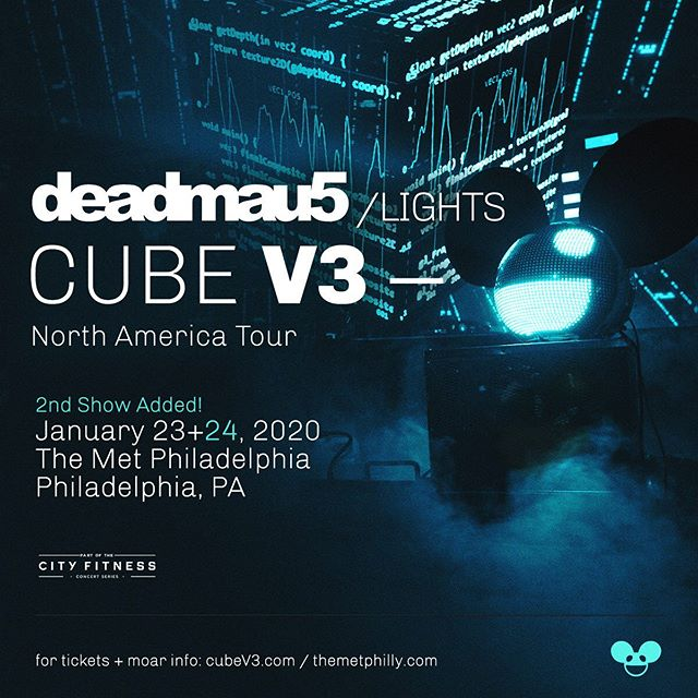 *** TICKETS ON SALE NOW! - 2ND SHOW ADDED *** Due to high demand we're happy to announce that deadmau5 is coming to Philadelphia's The Met Philly not for 1 show, but TWO shows! Snatch up those tickets like they were a piece of Golden Cheese in that mau5trap - TIX: http://bit.ly/deadmau5CubeV3