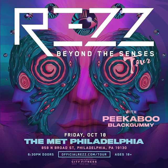 JUST ANNOUNCED: Greetings Earthlings! @officialrezz coming to The Met Philly for her 'Beyond The Senses' tour!!! 🌀_🌀 w. support from @peekaboobeats & @blackgummy  Tickets go sale Friday May 31st @ 10am - themetphilly.com 🌀_🌀 *And if you haven't already! peep that new Rezz single #DarkAge and hop aboard this Mothership 👽🎶
