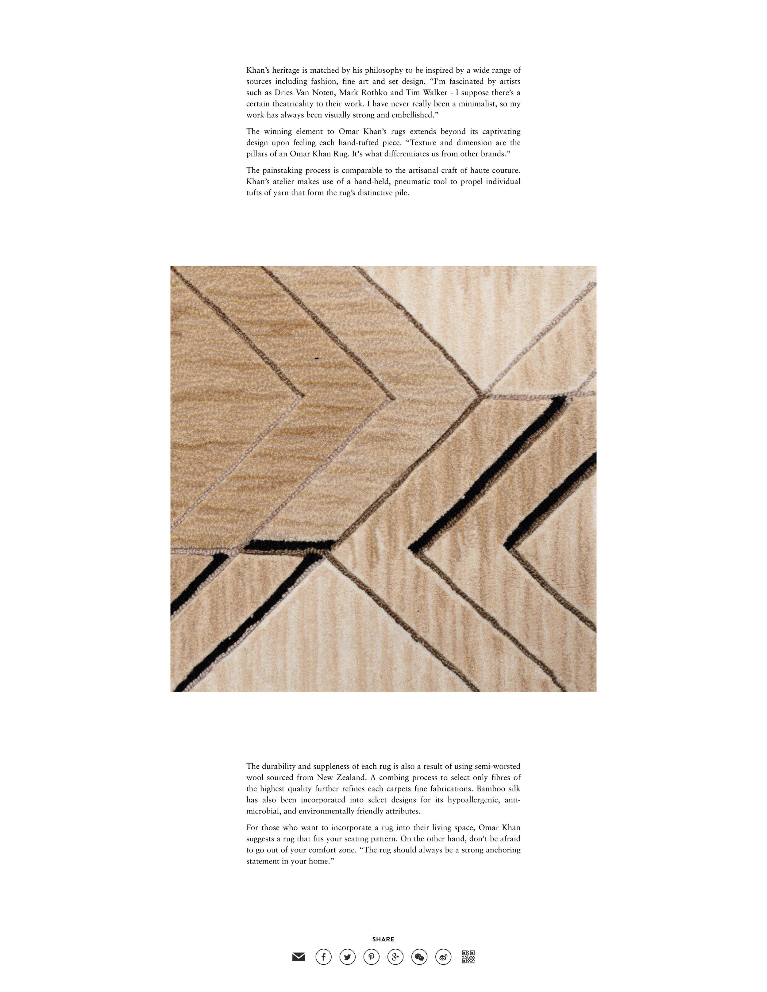 Carpet Diem | Omar Khan Rugs
