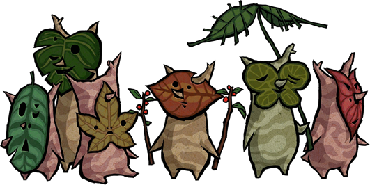 Koroks from the Legend of Zelda