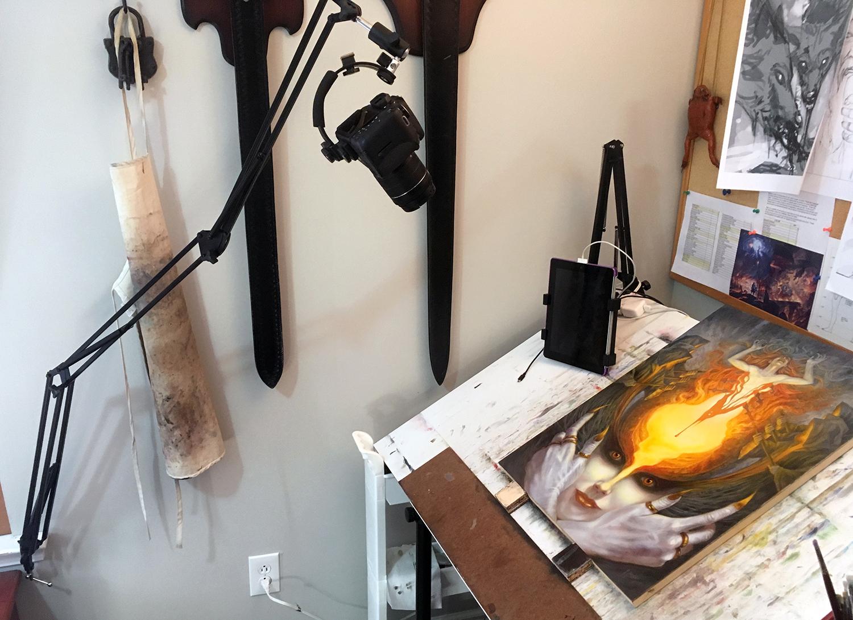 Sam's Studio Set Up