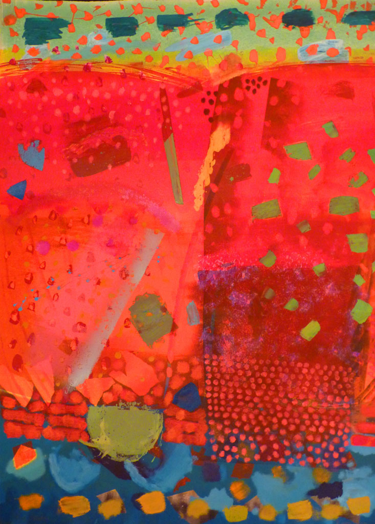 Red Solution. Monoprint. Kieron Farrow..jpg