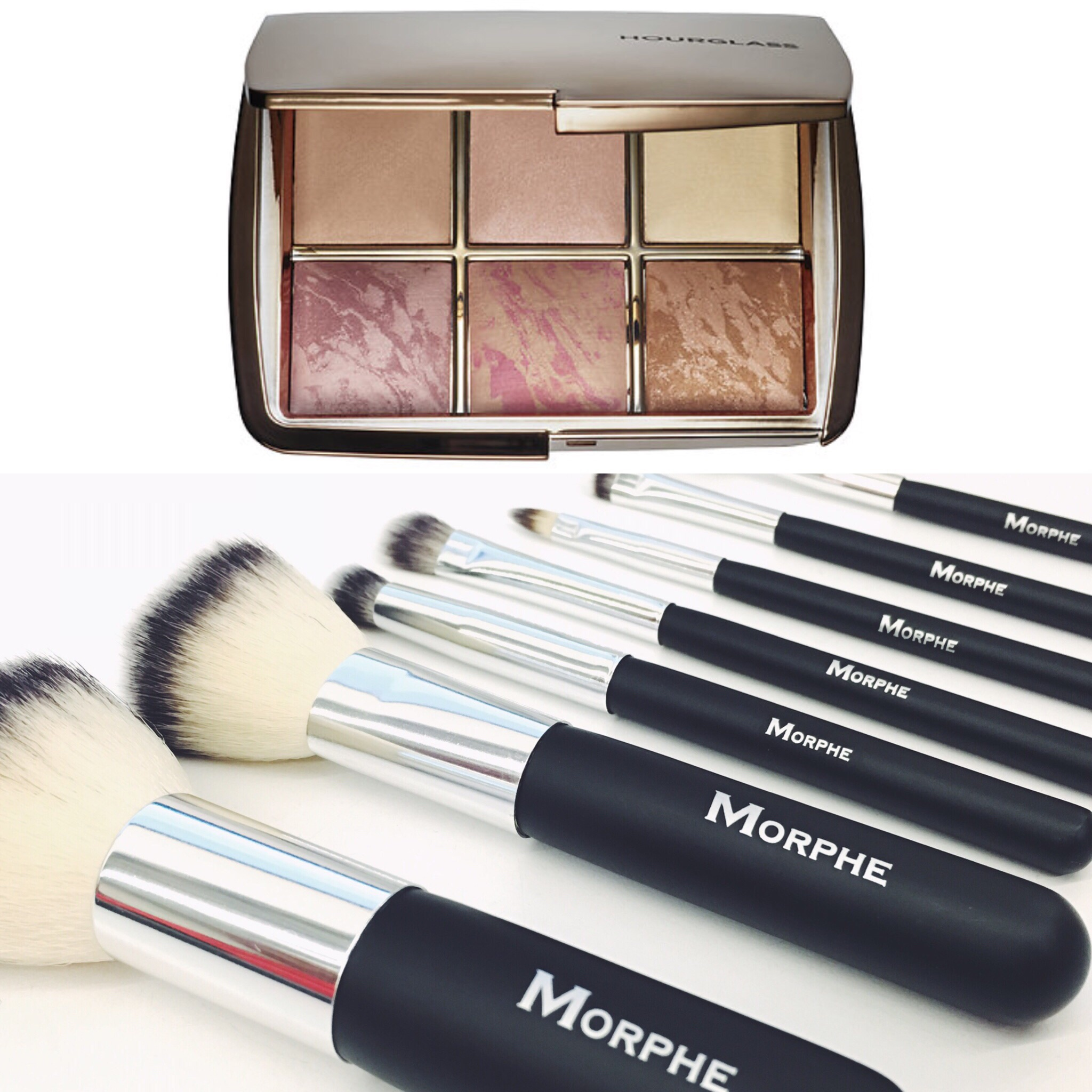Hourglass Ambient Lightting Edit  and  Morphe Brushes travel kit