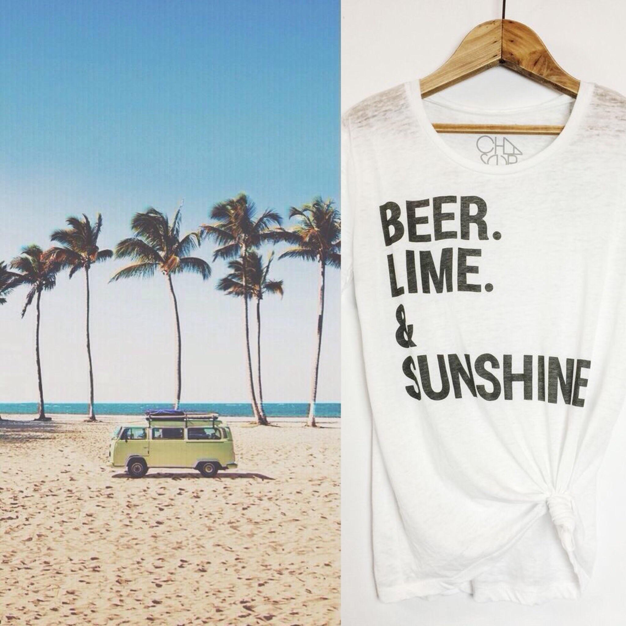 L-R:  VW & Palms ,  Beer Lime & Sunshine Shirt