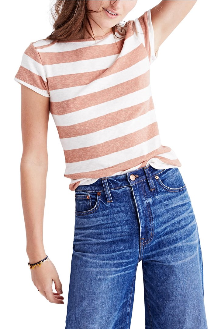 Madewell Stripe Music Tee