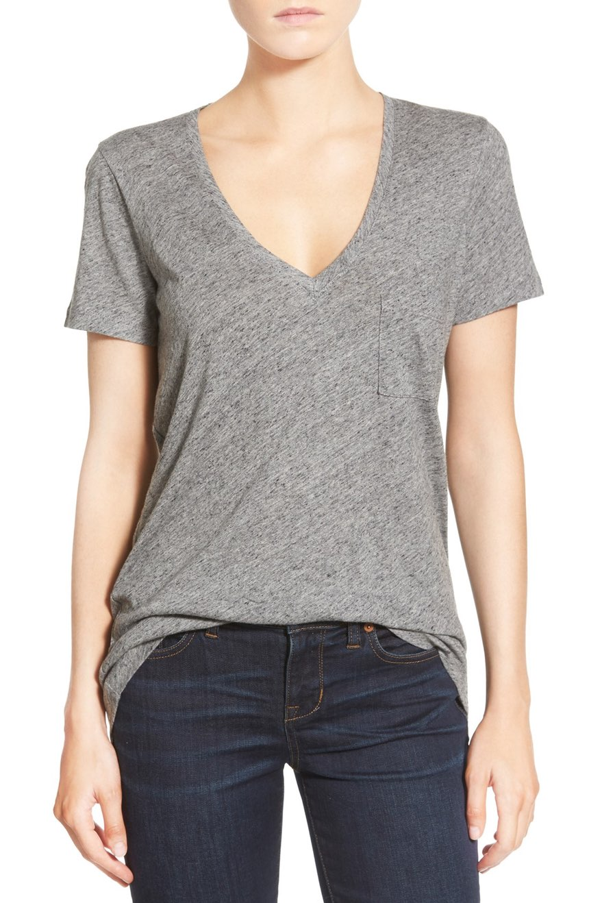 Madewell Whisper V-Neck Tee