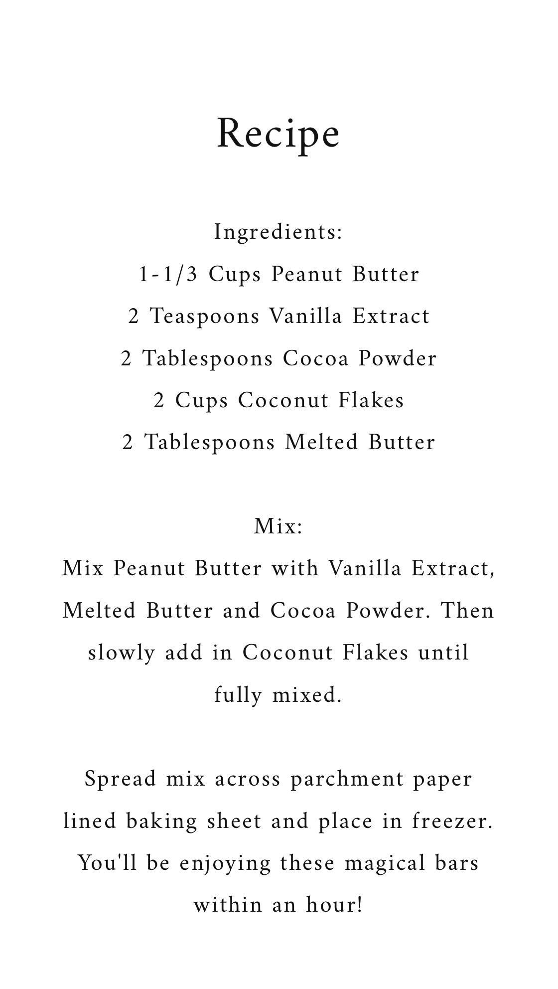 Recipe: No Bake // Chocolate Peanut Butter Coconut Bars.JPG