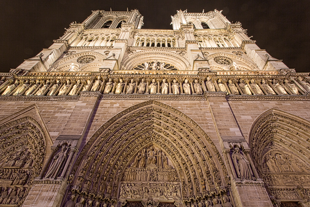 The entrance to Notre Dame