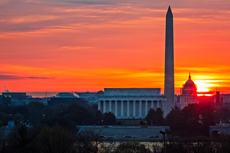 Sunrise at the National Mall, Washington DC