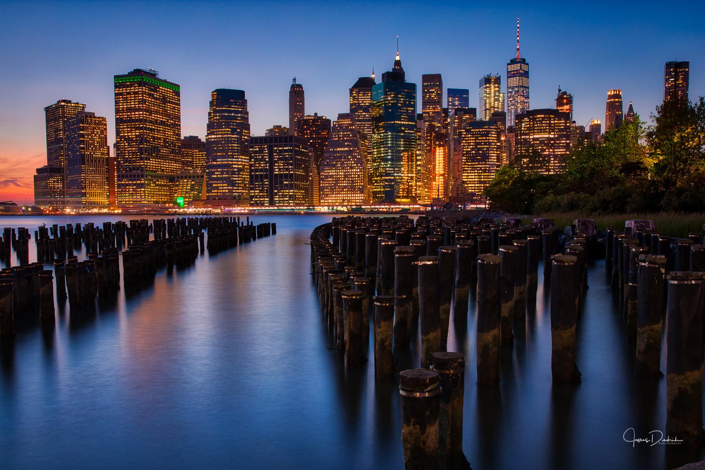 Night time in Manhattan