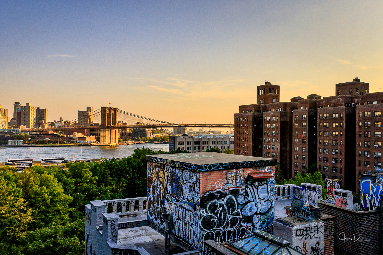 Brooklyn Bridge as seen from the Manhatten Bridge