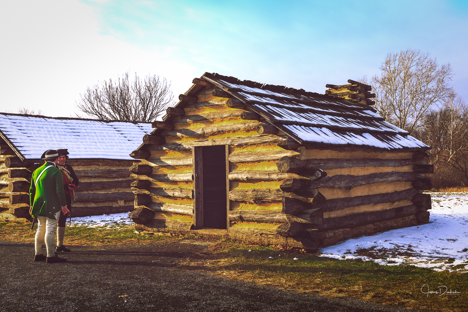 Here is a cabin which is what the soldiers stayed in.