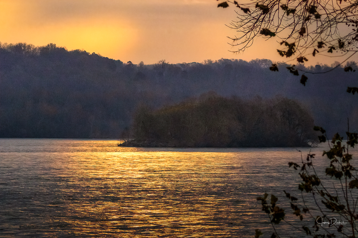 Sunrise on the Susquehanna River in Maryland.