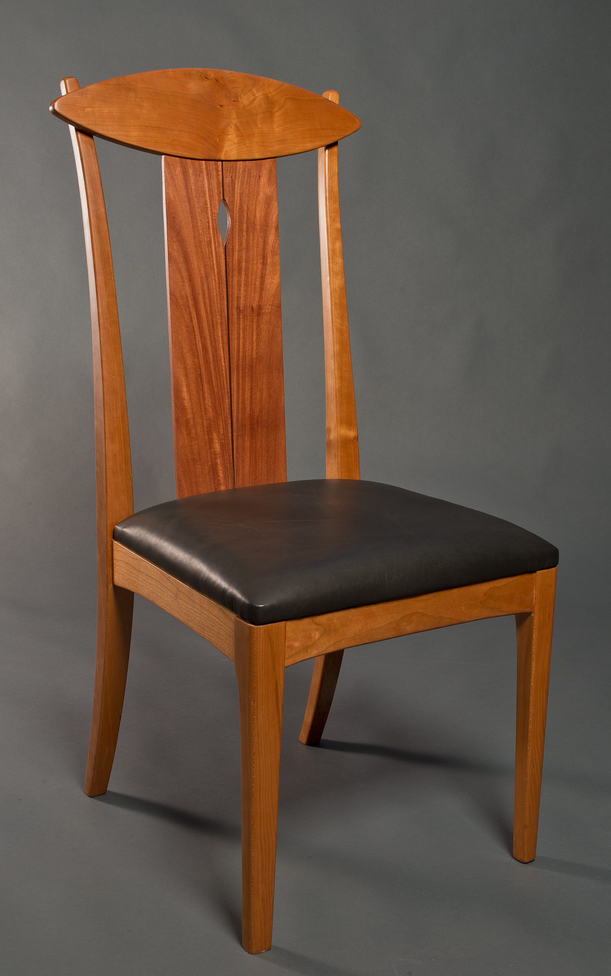 Lyra  Chair    leather seat