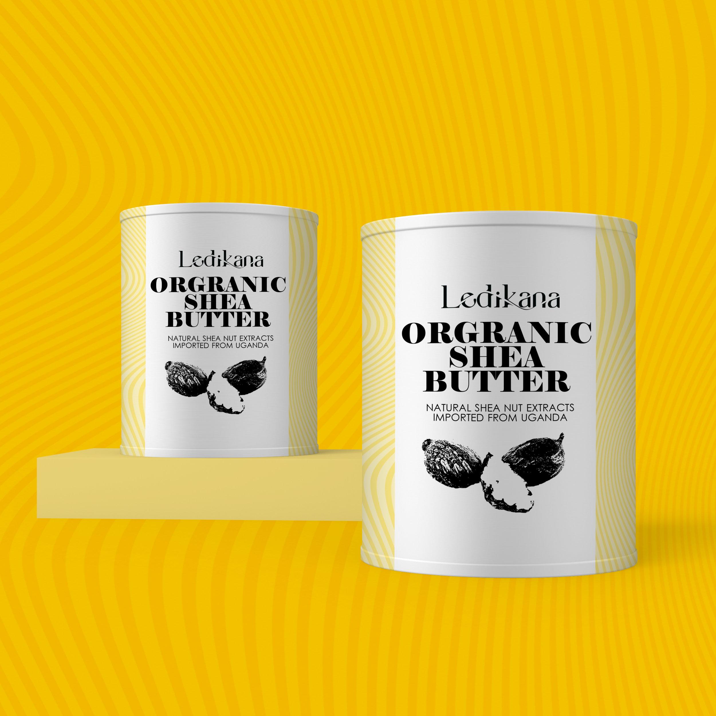 ledikana organic shea butter packaging mock ups