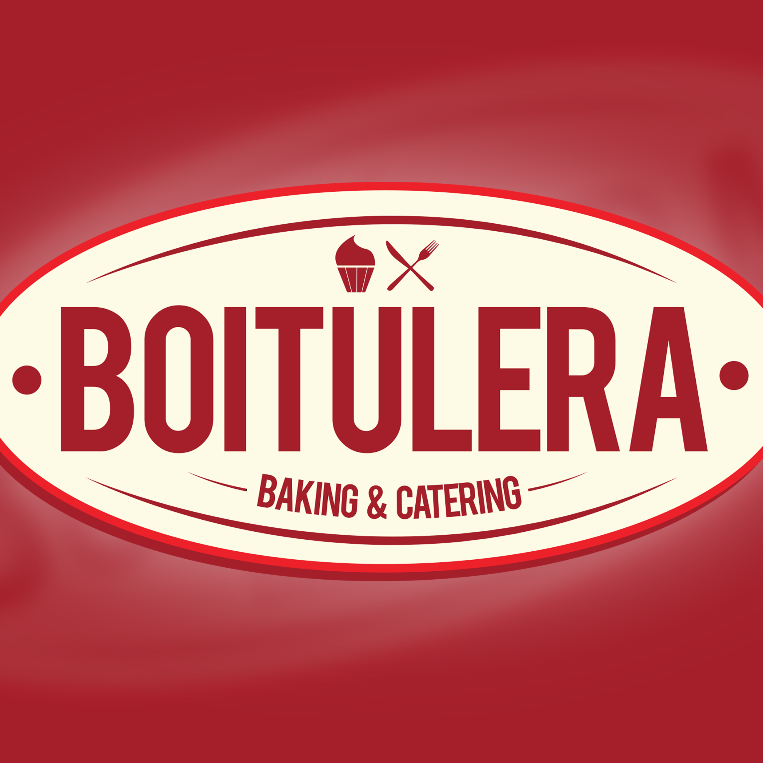 boitulera baking and catering logo and business card design