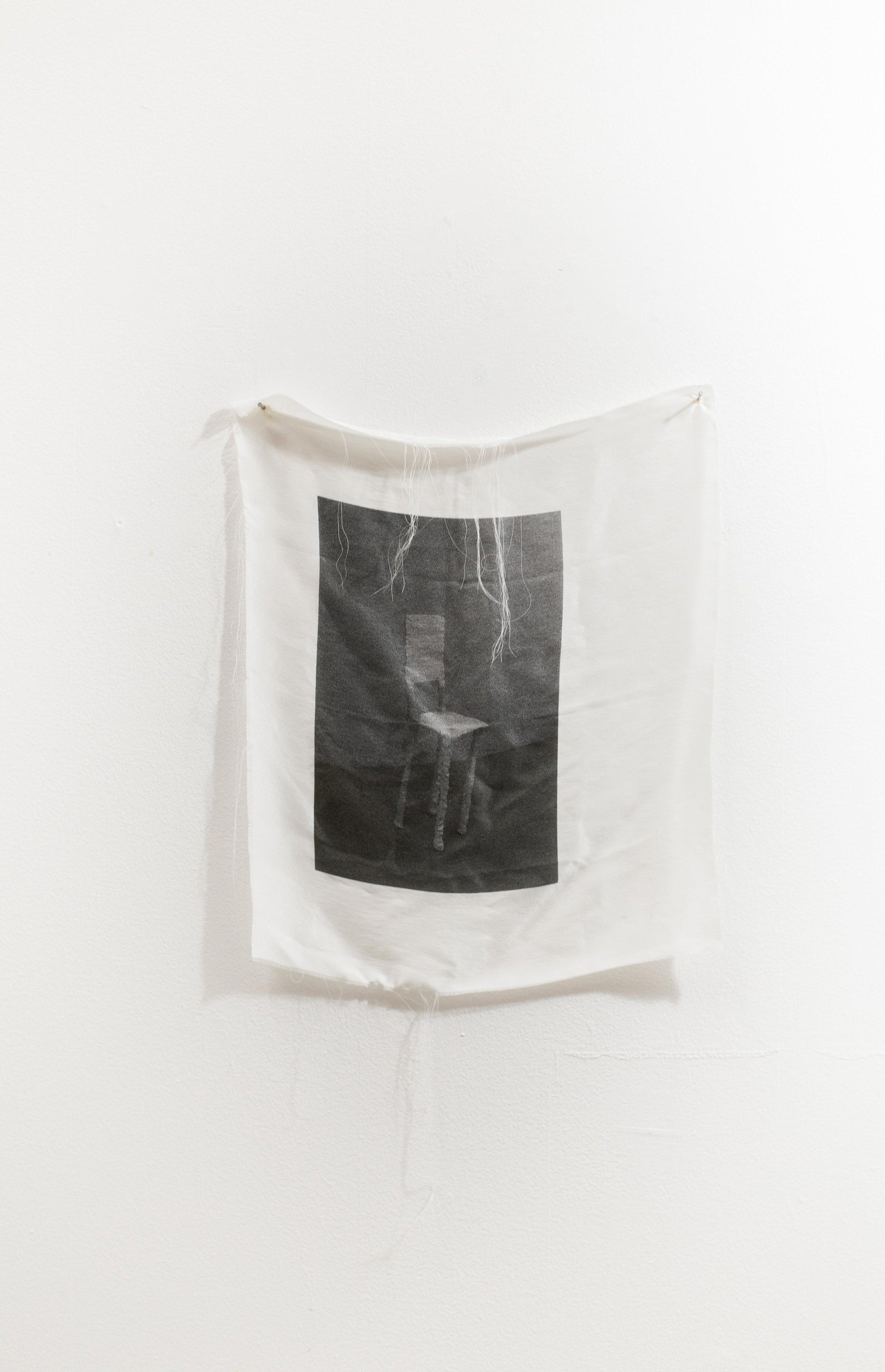 """GC , 2018, Digital print on silk, 12"""" x 9"""""""