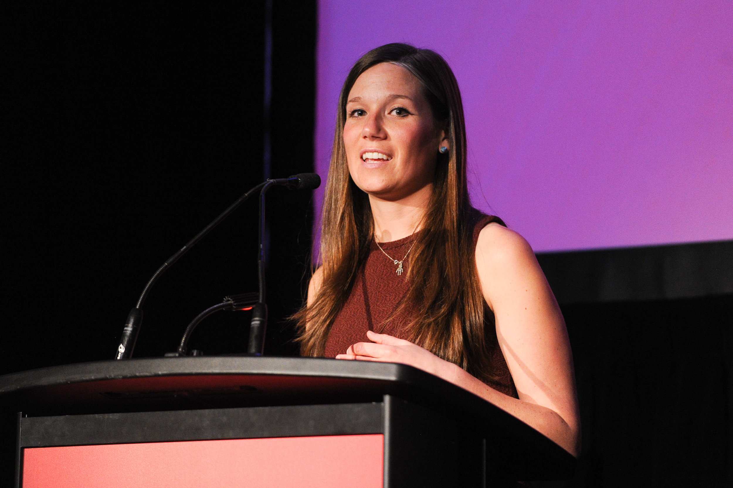 Natalie Panek | Rocket Scientist &Advocate for Women in Tech - The accomplished Natalie Panek inspired with Lynn Sherr's Sally Ride, and delivered an impassioned message about the value of encouraging girls in science.