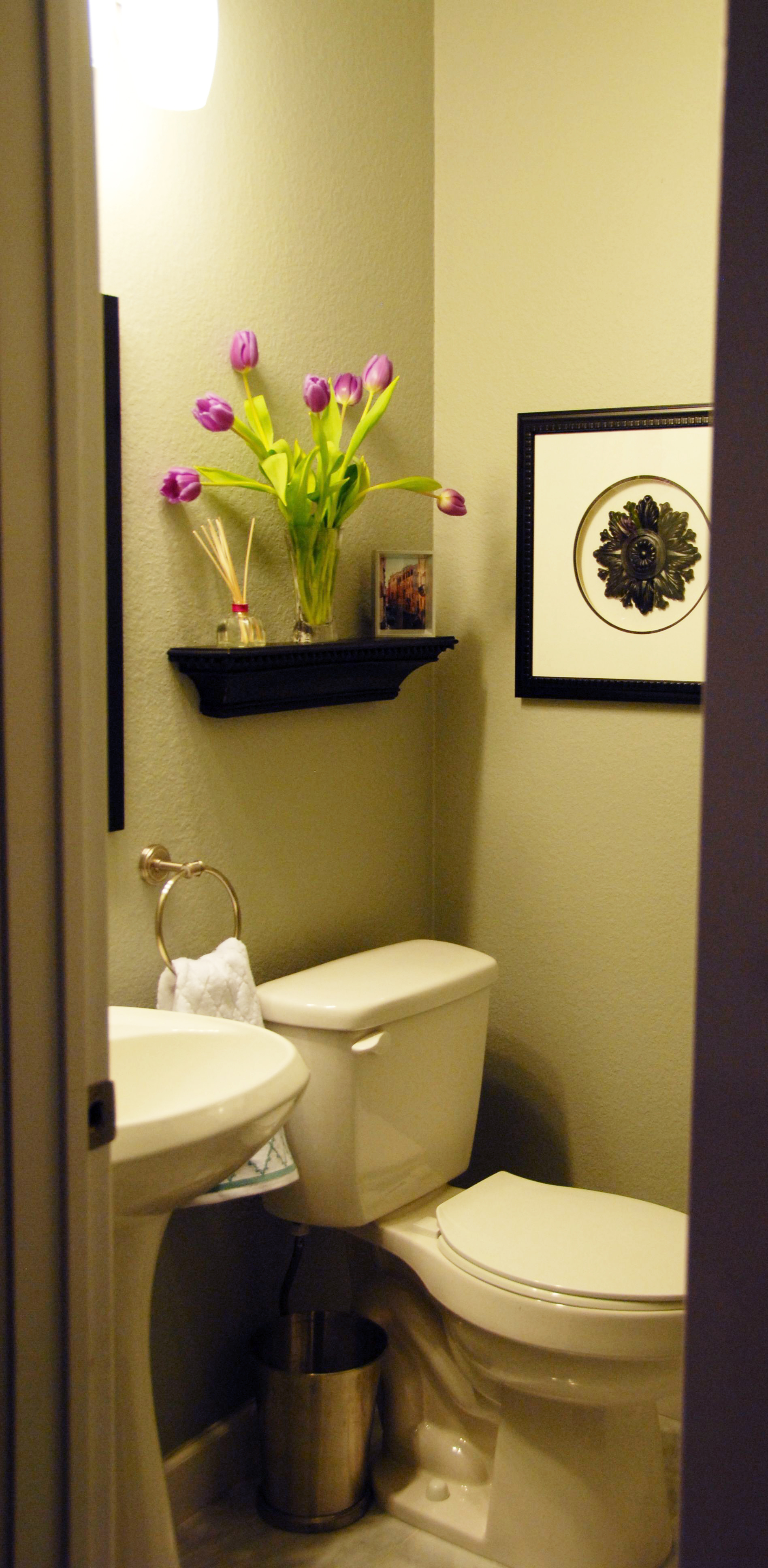 After - Our beautiful powder room!