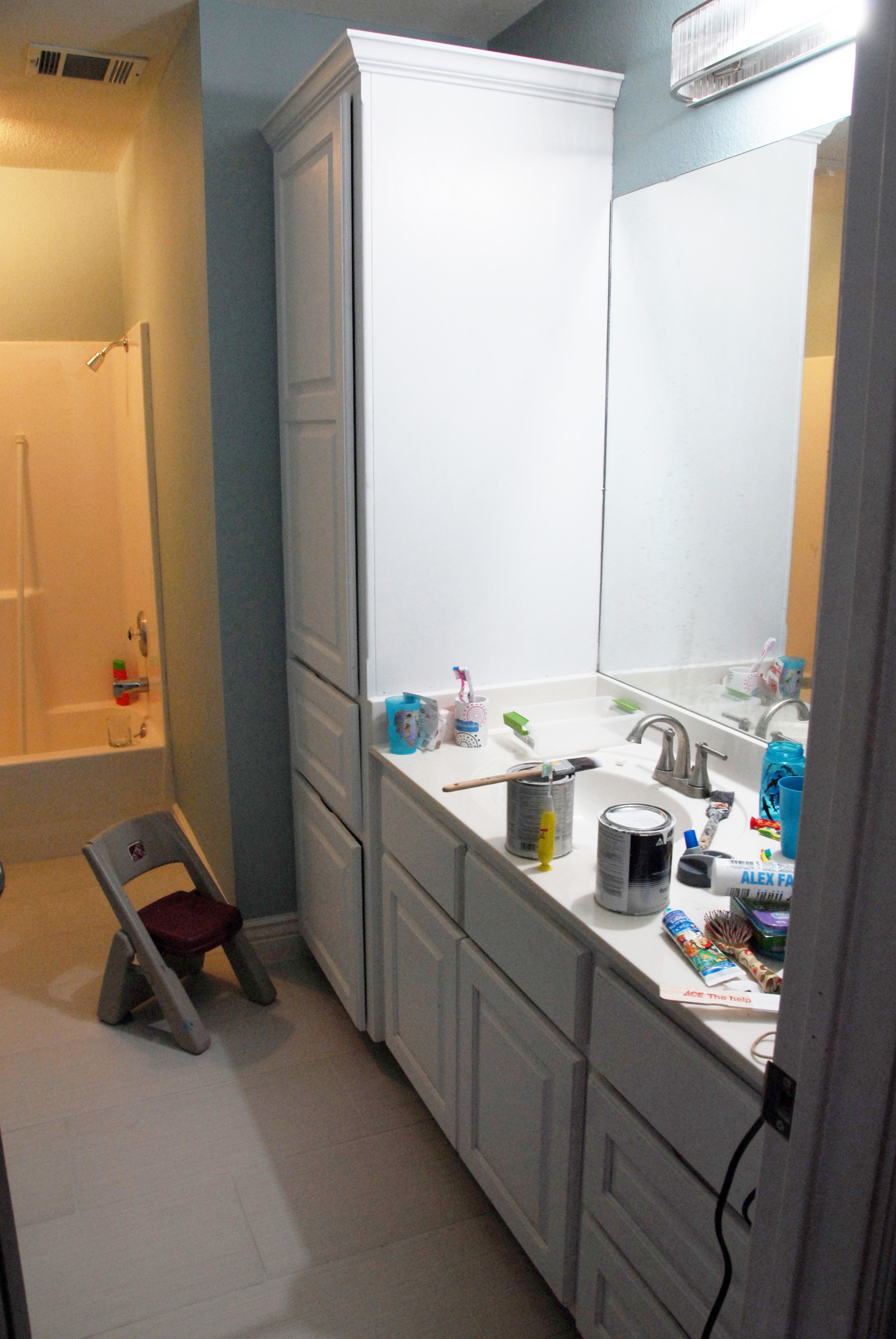 Kid's Bath Cabinets Before 2