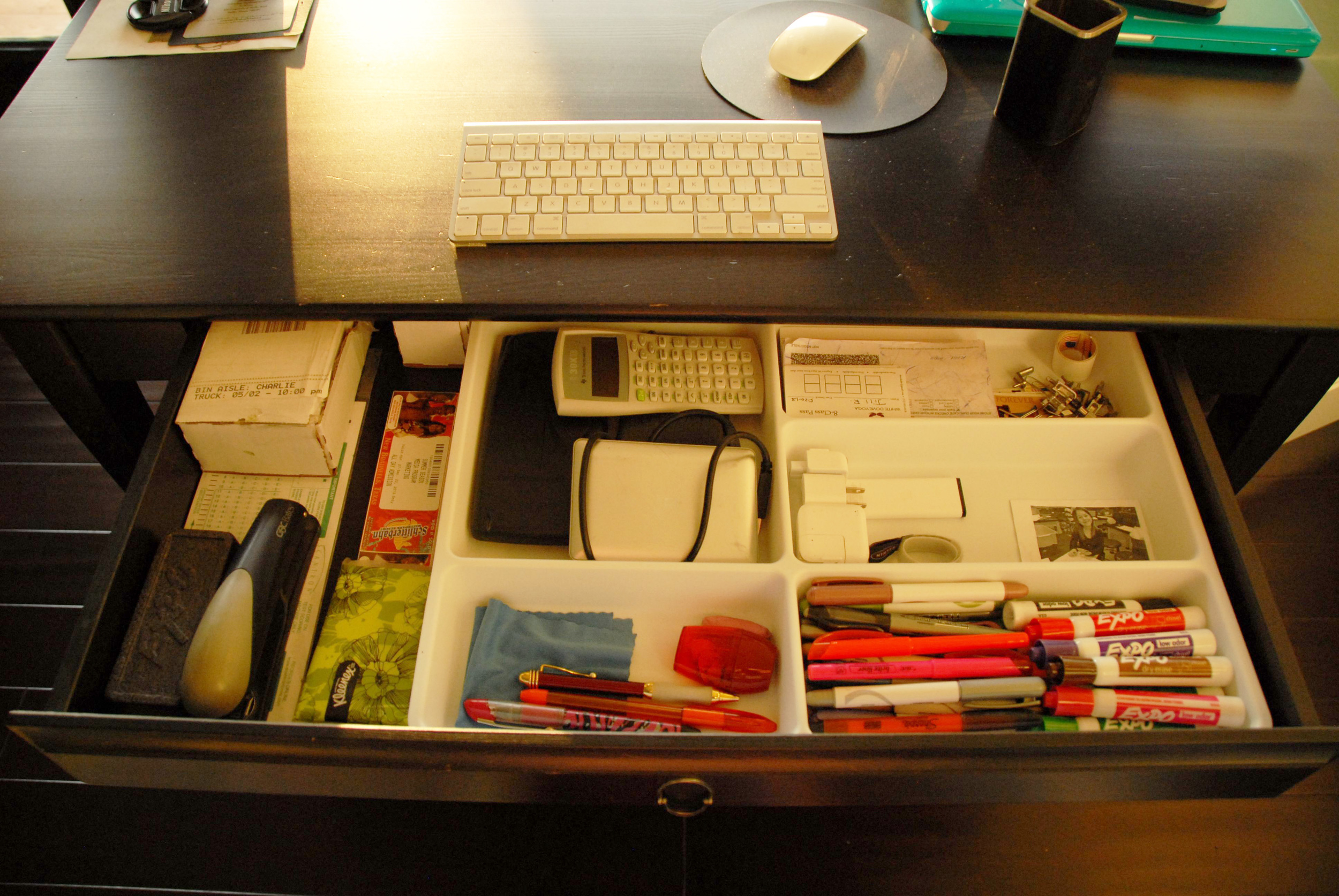 The organized desk drawer