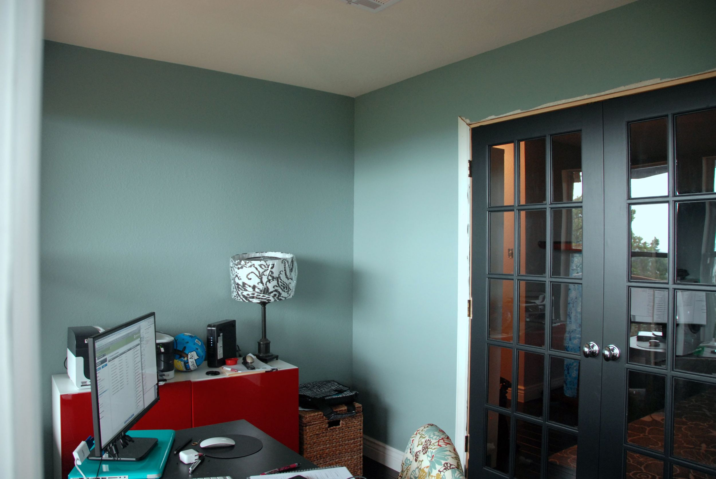 Office Wall Color - Benjamin Moore Stratton Blue