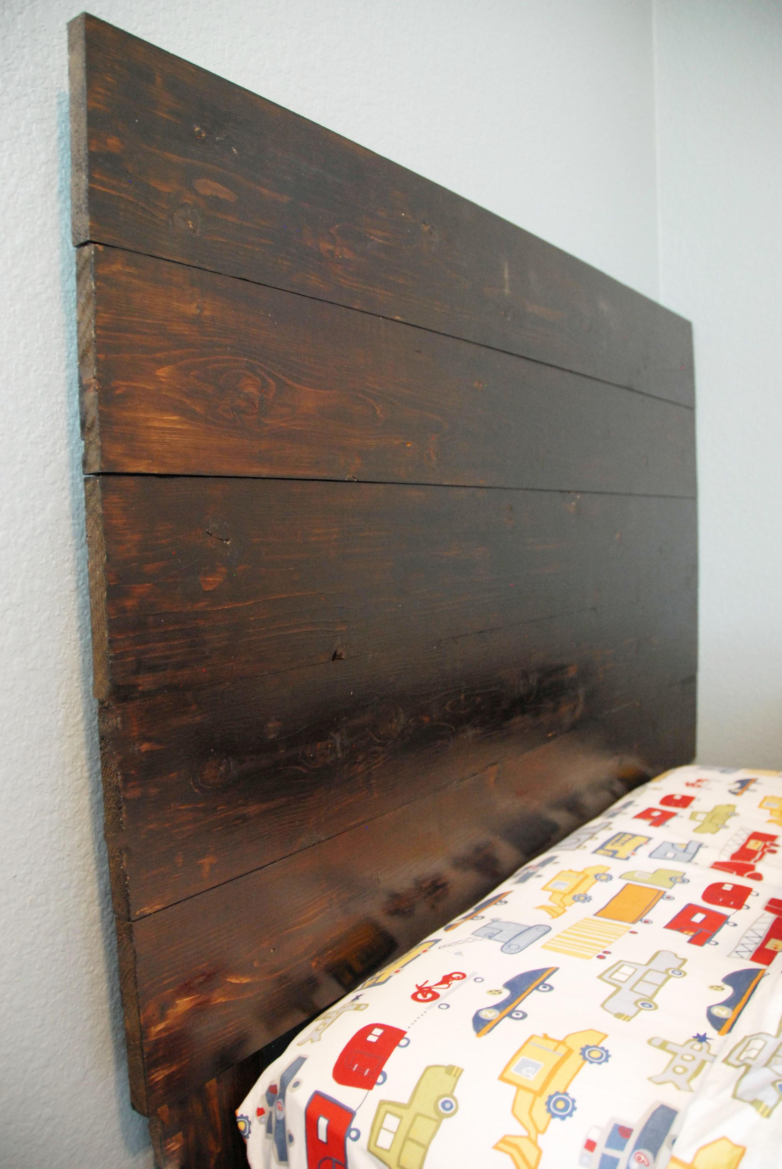DIY Rustic Headboard Side