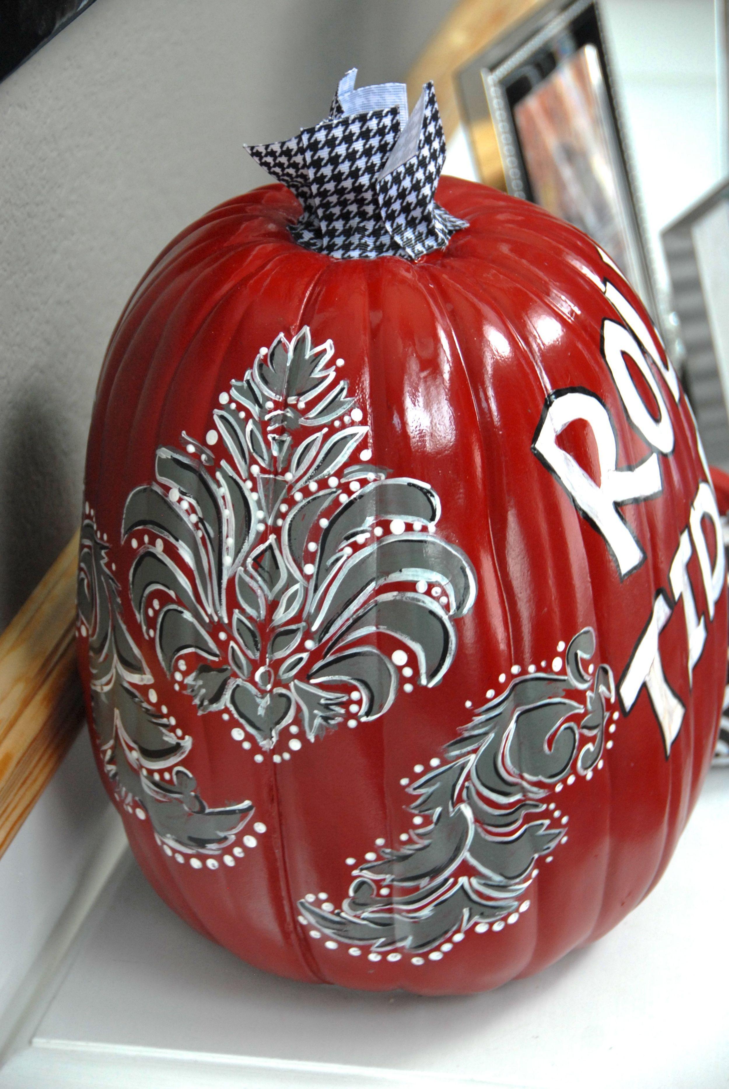 Roll Tide Pumpkin Side