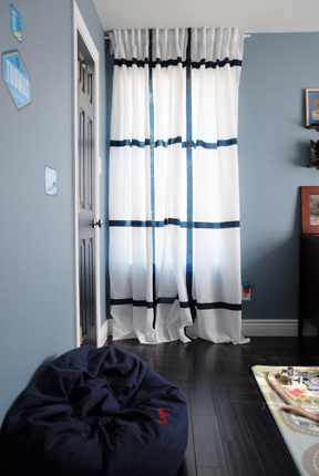 The new curtains.