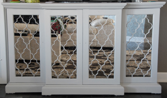 Credenza after (I just painted it so the knobs aren't on yet)