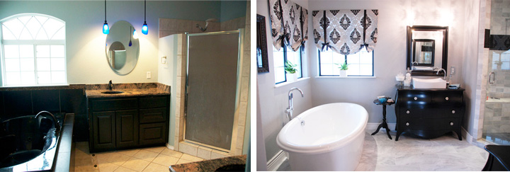 From the door/her vanity side-by-side