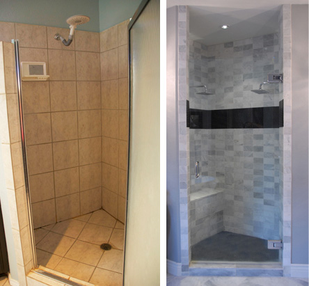 Shower close side-by-side