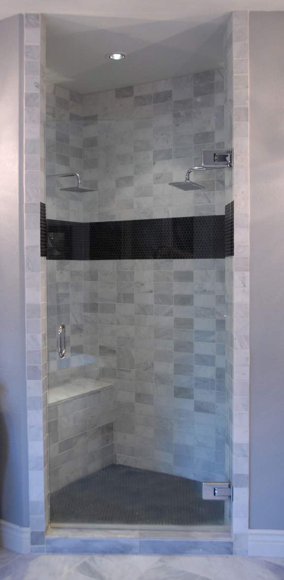 The new shower close