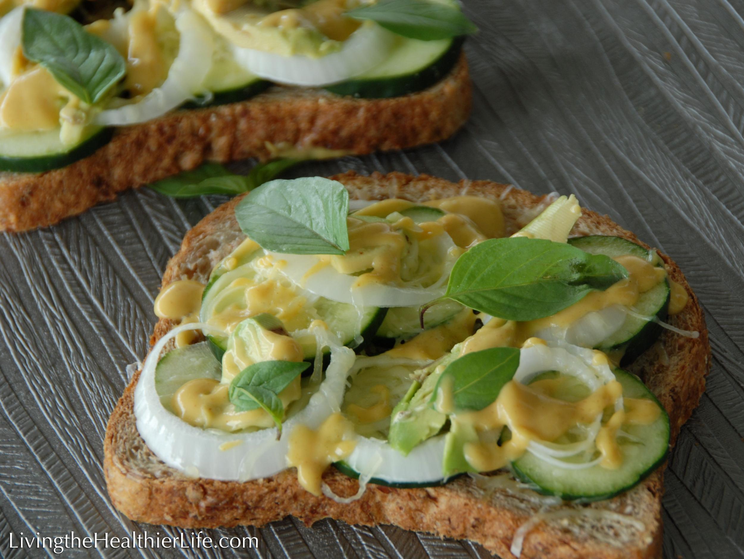 Make You Wanna Cry Veggie Sandwich
