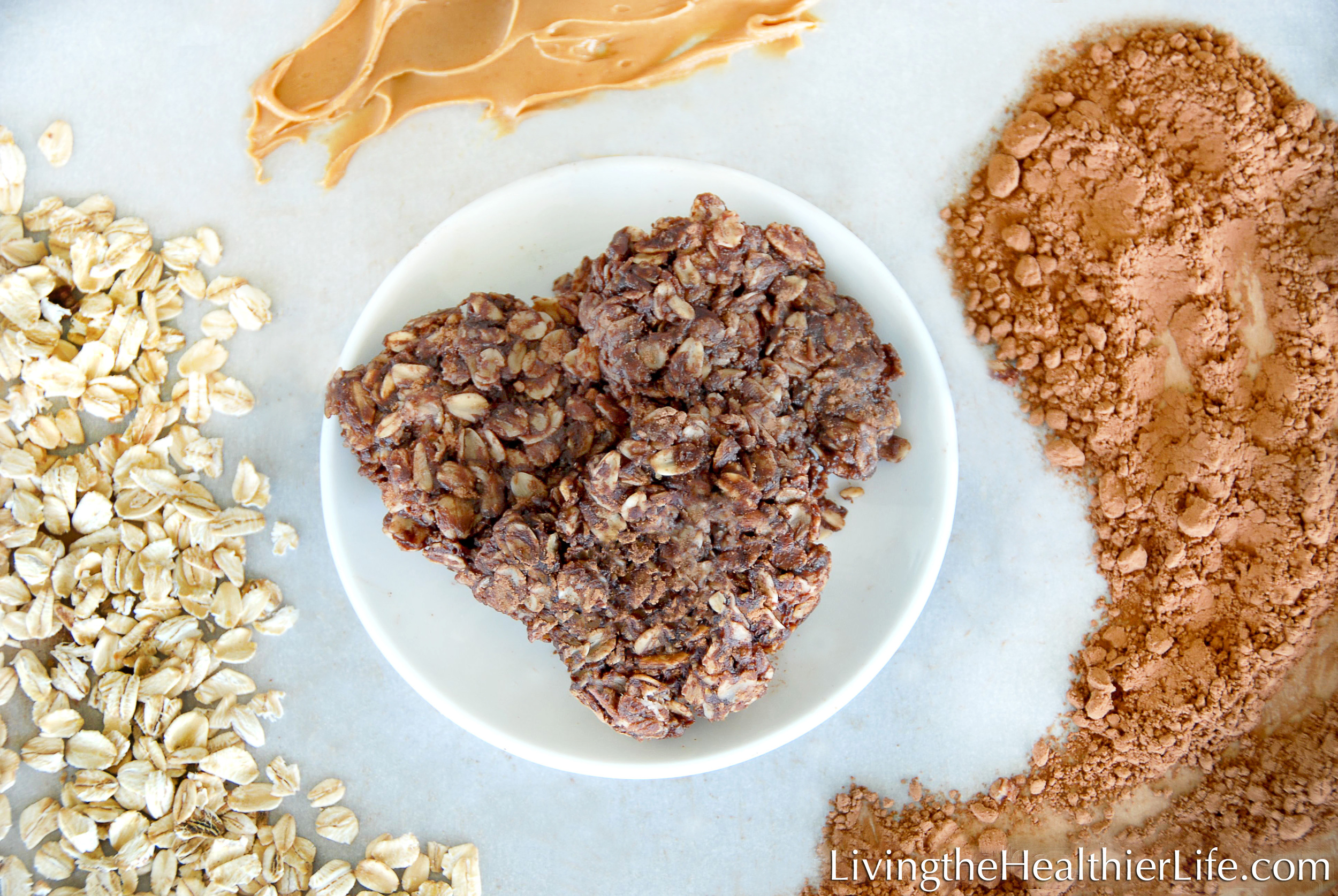 slimmed down no-bake chocolate oatmeal cookies