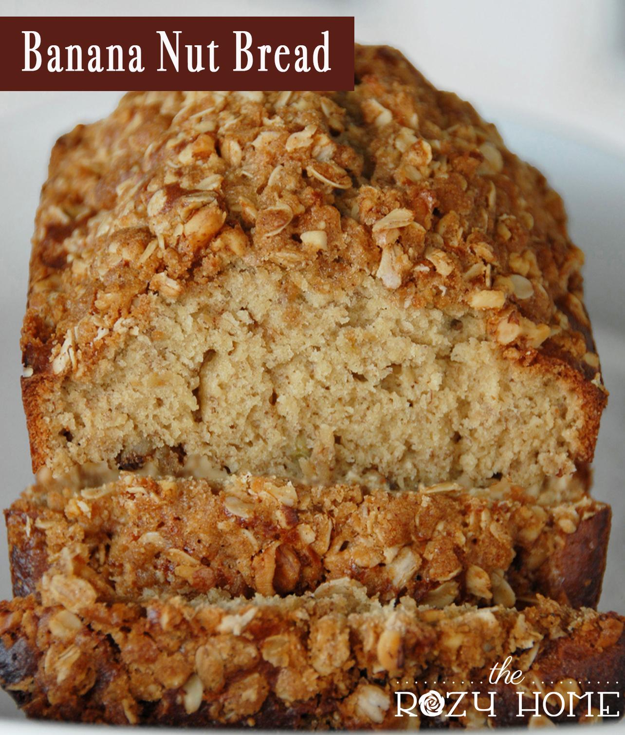 Banana Walnut Streusel Bread