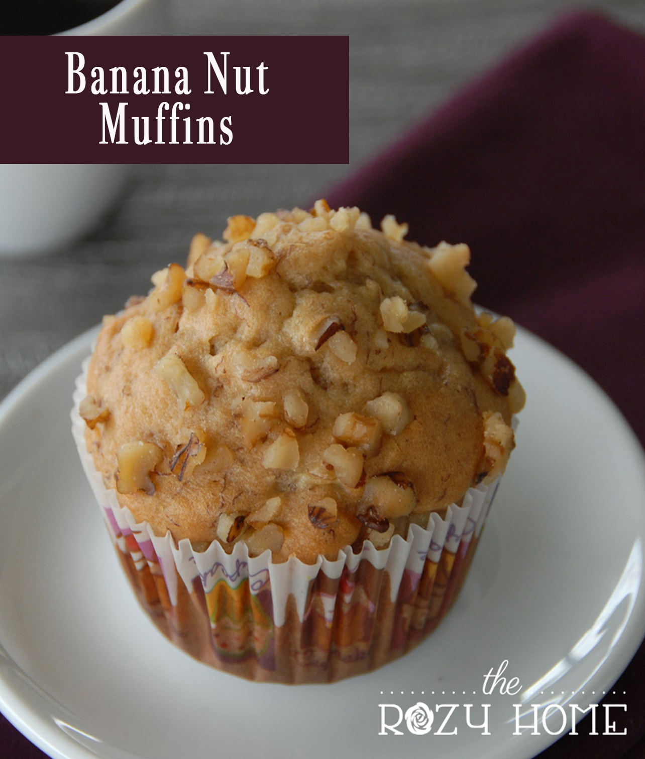 Healthier Banana Nut Muffin