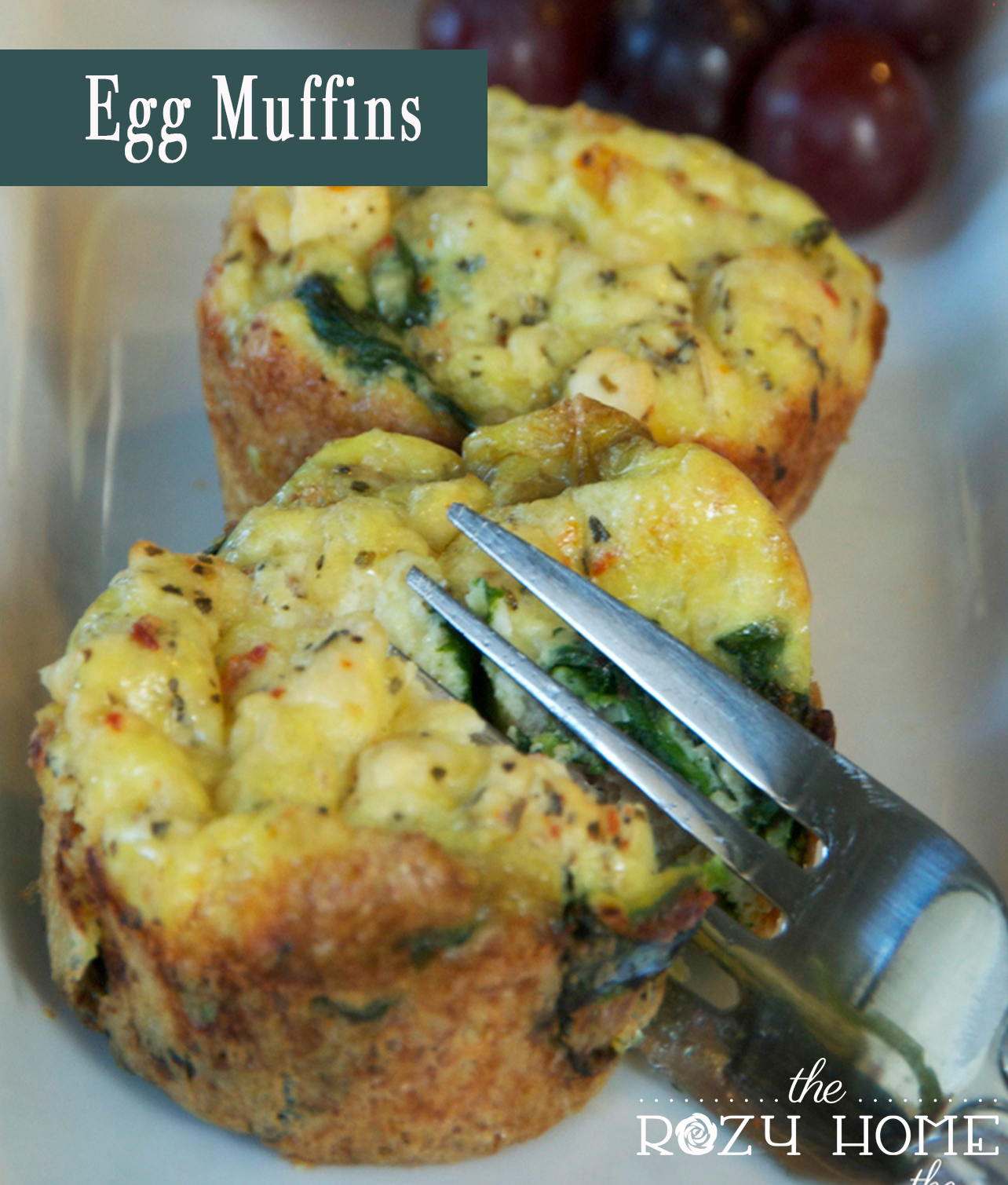 Spinach Turkey Sausage and Feta Egg Muffins